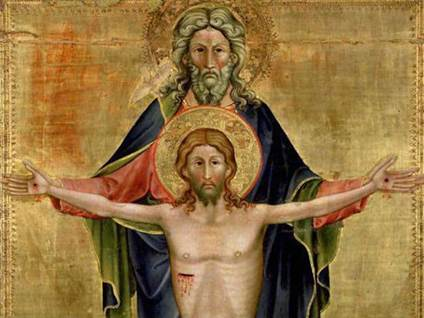 God and Christ on cross