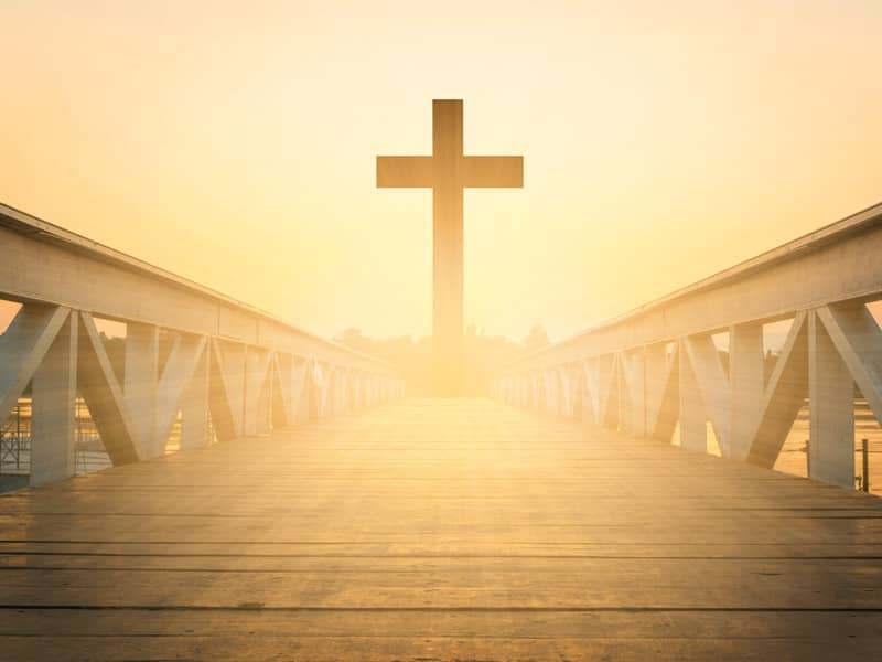 Cross on bridge