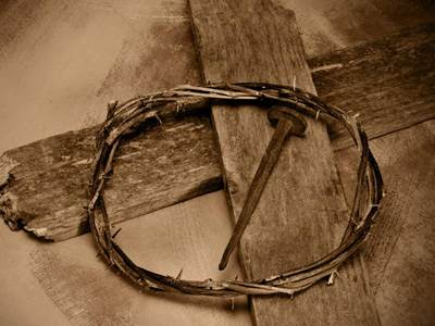Cross with nail