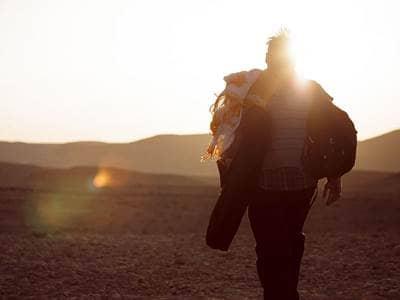Hiker in Israel