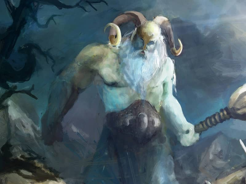 Giant with horned helm