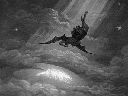 Lucifer falling from sky