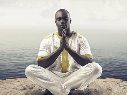 people man praying ocean