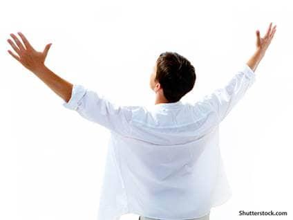 spiritual man praising