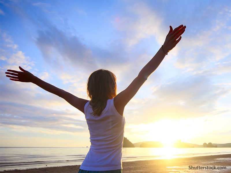 spiritual woman beach