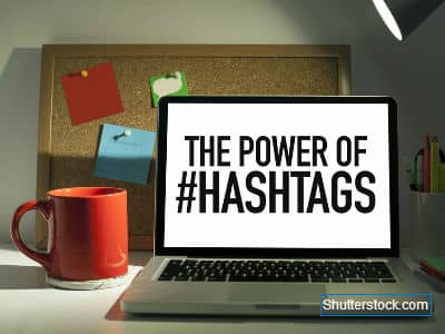 Hashtag on Laptop