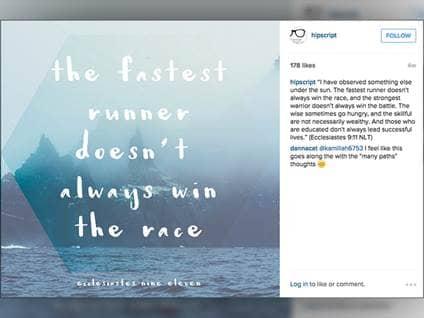 instagram pictures, top Christian instagram accounts, hipscript, instgram newsfeeds to follow