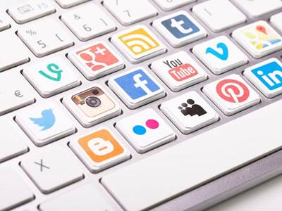 Social icon keyboard