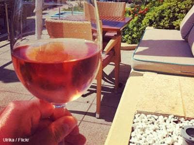 Rose Wine at Beach