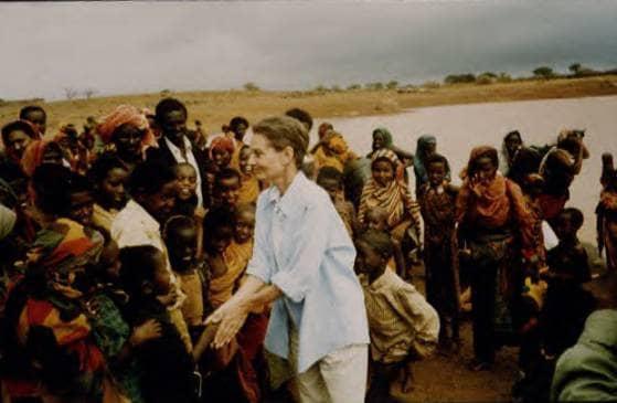 Audrey Hepburn with kids