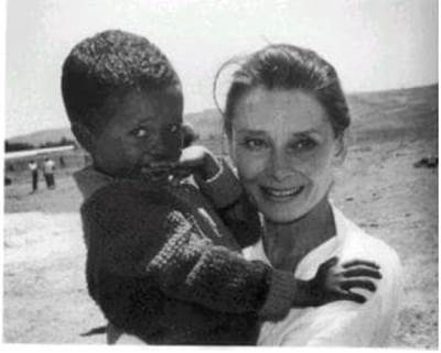 Hepburn with child