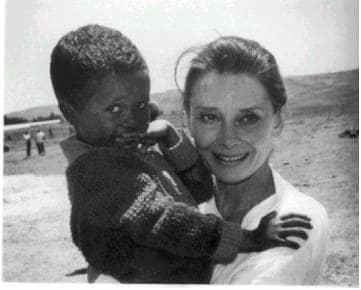 Hepburn with child