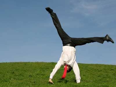 Man Doing Cartwheel