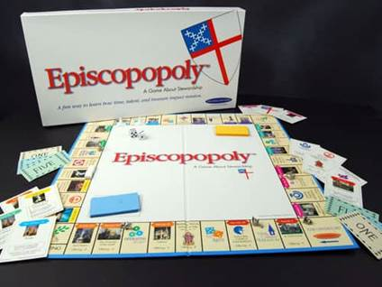 Episcopopoly board game
