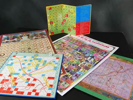 Religious snakes and ladders board games