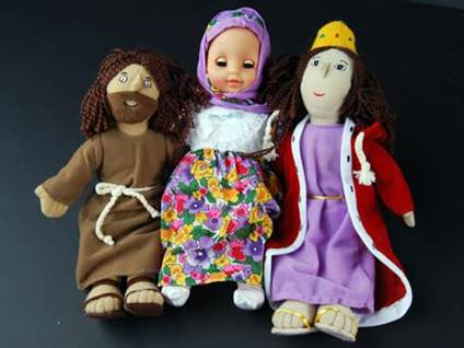 Jesus and Esther soft dolls