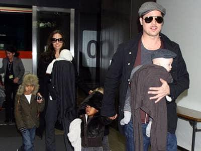 Brad Pitt, Angelina Jolie, Maddox Vivienne, Zahara, Knox