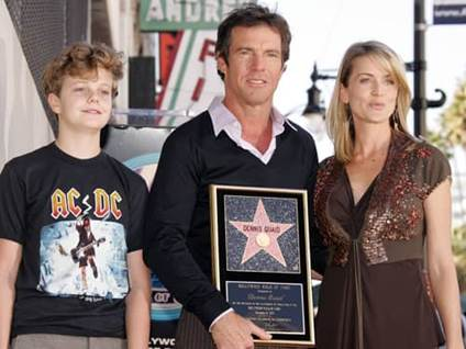 Dennis Quaid, wife Kimberly, son Jack