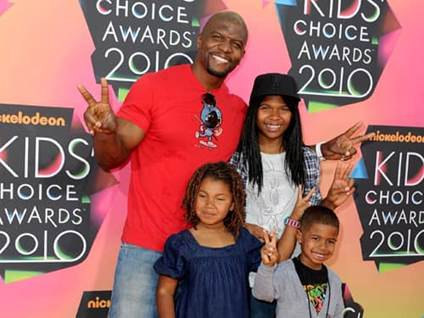 Terry Crews and some of his children Tera, Wynfrey, and Isaiah