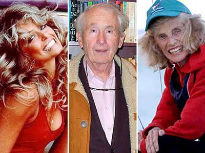 Farrah Fawcett, Frank McCourt, Eunice Kennedy Shriver