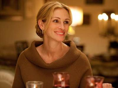 Julia Roberts as Elizabeth Gilbert in Eat, Pray, Love