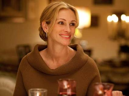 Julia Roberts as Elizabeth Gilbert in Eat, Pray, Love