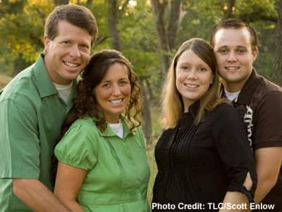 Michelle and Jim Bob Duggar with Josh and Anna Duggar
