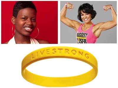 Fantasia American Idol Ali from The Biggest Loser Livestrong Bracelet