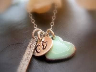Celebrity baby charm necklace