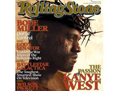 Kanye West as Jesus on Cover of Rolling Stone