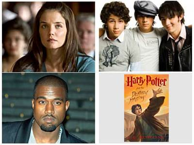 Katie Holmes Kanye West The Jonas Brothers Harry Potter