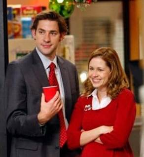 Jim and Pam Halpert