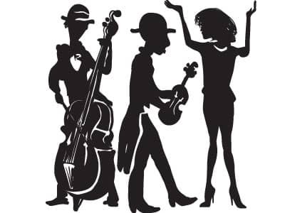 cartoon of jazz dancers