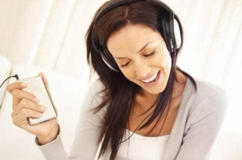 listening to inspirational music