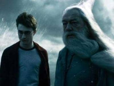 Harry Potter and Albus Dumbledore
