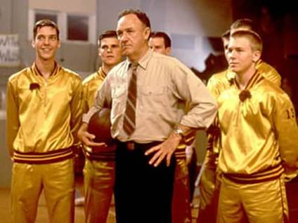 Gene Hackman as Norman Dale in Hoosiers