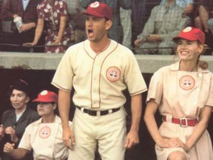 Tom Hanks as Jimmy Dugan in A League of Their Own