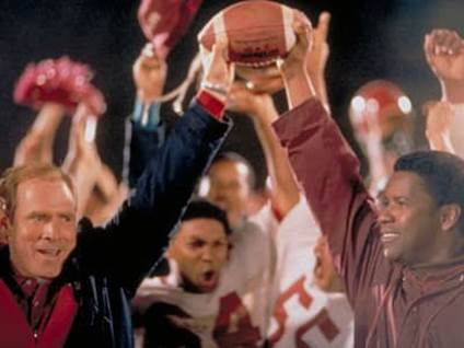 Denzel Washington and Will Patton as Herman Boone and Bill Yoast in Remember the Titans