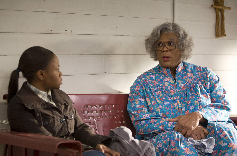 Tyler Perry as Madea with Hope Olaide Wilson as Jennifer