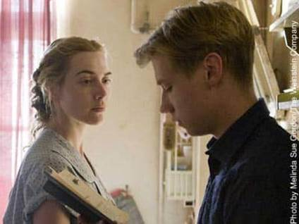 Kate Winslet and David Kross in The Reader