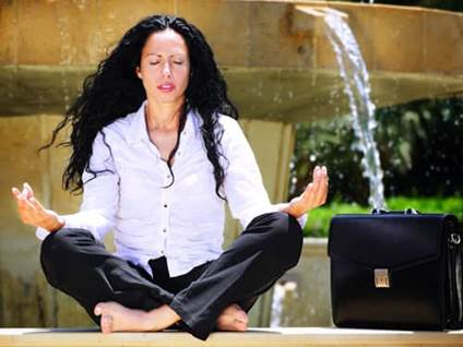 Business Woman Fountain Park