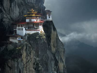 Buddhist Temple on a Cliff
