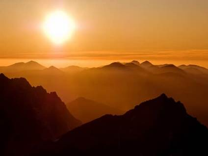 Sunrise over mountains