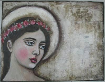 mary with halo