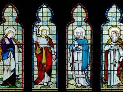 Saints on a Stained-Glass Window