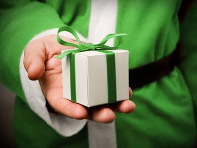 A green gift from Santa