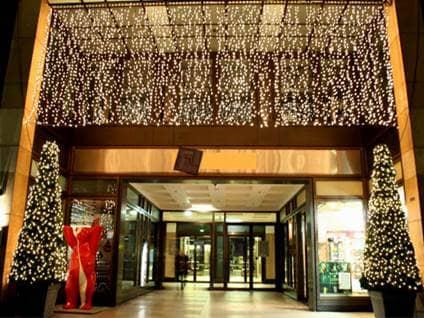 Shopping mall at christmas