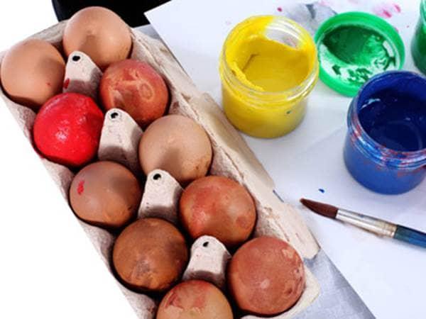 Sponge Easter Eggs