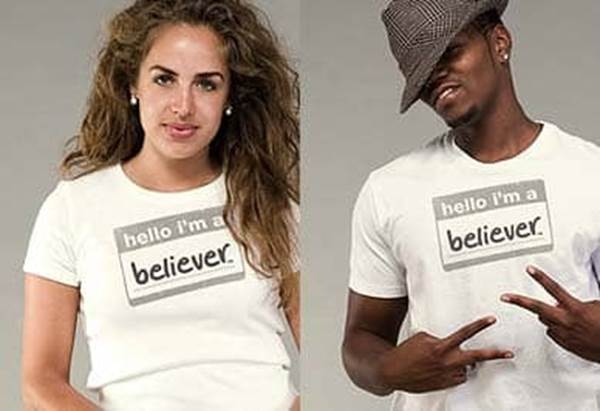 Christian T-shirts hello im believer