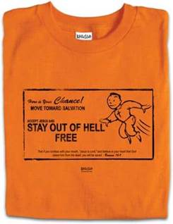 Christian T-shirts Get out of jail free card